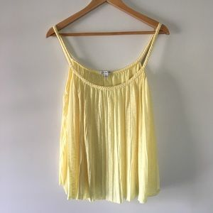 AMERICAN EAGLE yellow tank top braided strap large